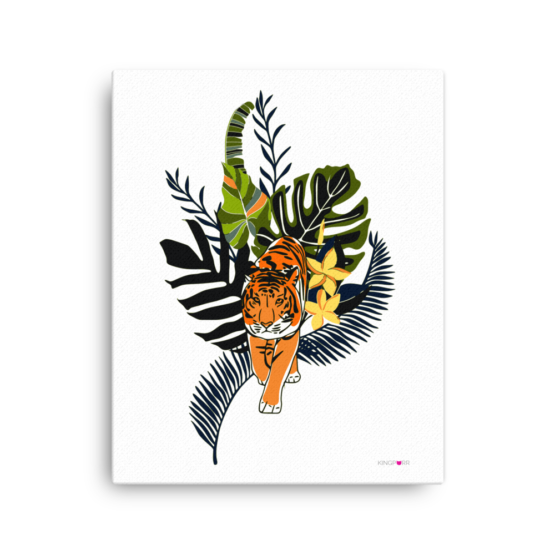 tiger in nature canvas print 16x20 wall
