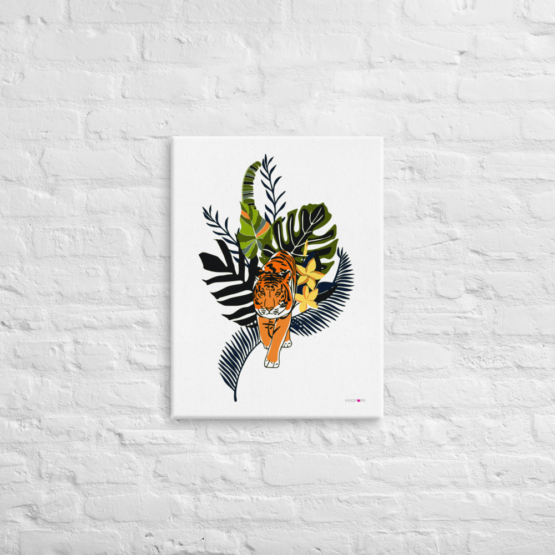 tiger in nature canvas print 18x24 front