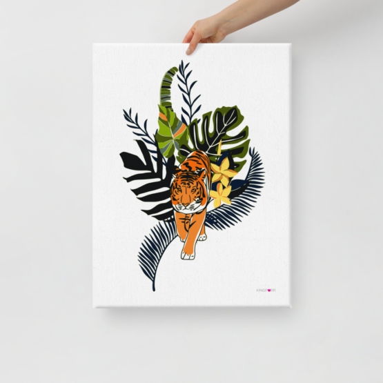 tiger in nature canvas print 18x24 hold