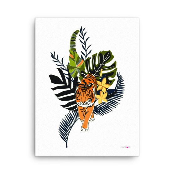 tiger in nature canvas print 18x24 wall