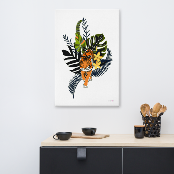 tiger in nature canvas print 24x36 lifestyle