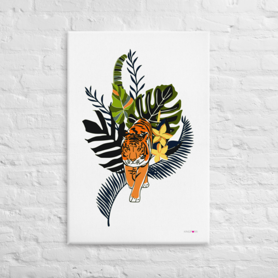 tiger in nature canvas print 24x36 front