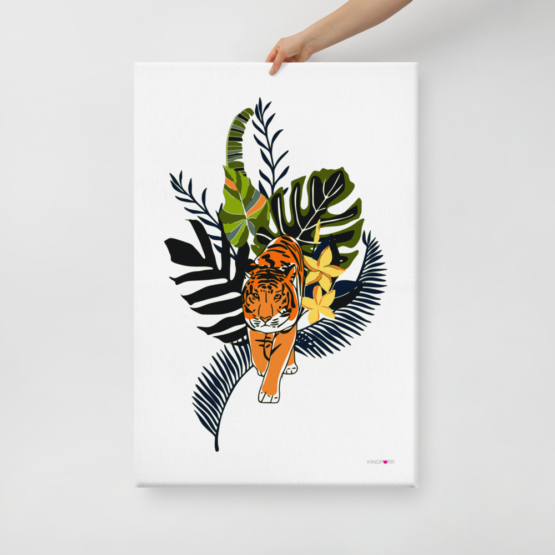 tiger in nature canvas print 24x36 hold