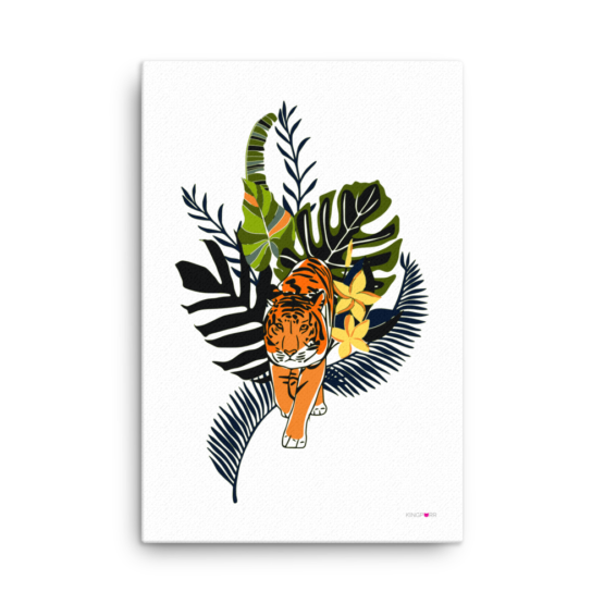 tiger in nature canvas print 24x36 wall
