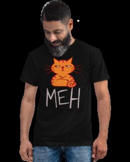 unimpressed cat eco t-shirt man black