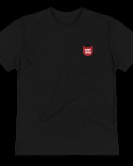 cat dad eco t-shirt wrinkled black