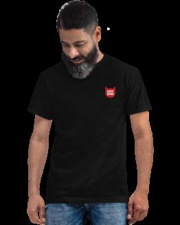 cat dad eco t-shirt man two black