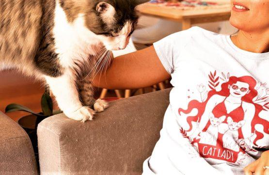 cat lady eco t-shirt insta