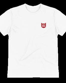 cat mom eco t-shirt wrinkled white