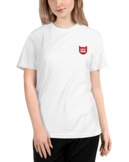 cat mom eco t-shirt woman white