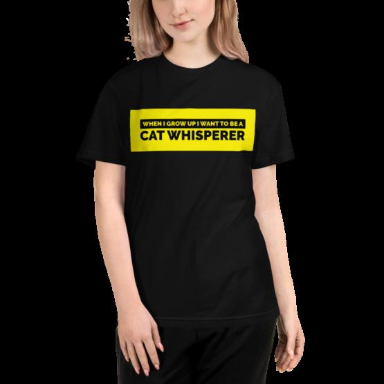 cat whisperer eco t-shirt woman black