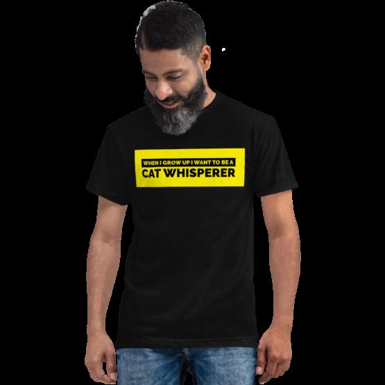 cat whisperer eco t-shirt man black