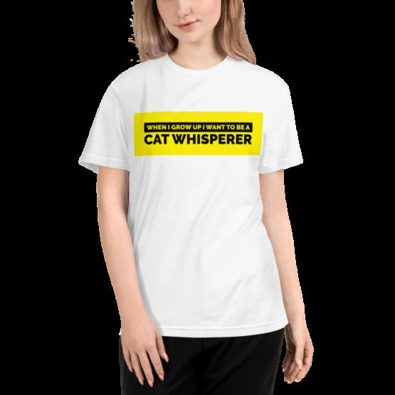 cat whisperer eco t-shirt woman white