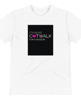catwalk eco t-shirt wrinkled white