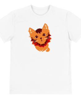cute cat eco t-shirt front white
