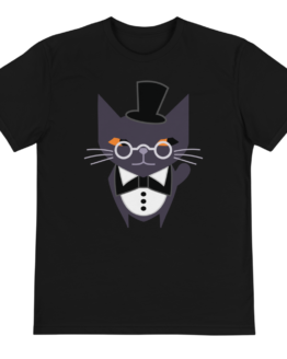 fancy judgemental cat eco t-shirt front black