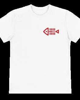 fish nomo eco t-shirt front white