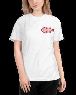 fish nomo eco t-shirt woman white