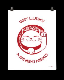 get lucky prosperity cat poster 16x20 clip