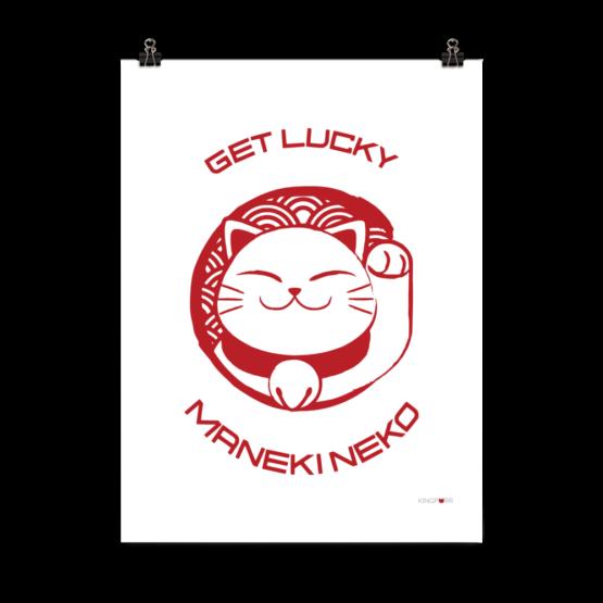 get lucky prosperity cat poster 18x24 clip