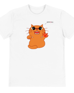 hungry cat eco t-shirt front white