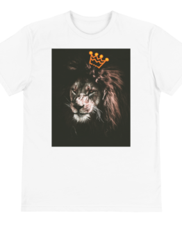 king of jungle eco t-shirt front white