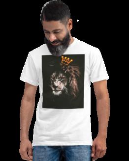 king of jungle eco t-shirt man white
