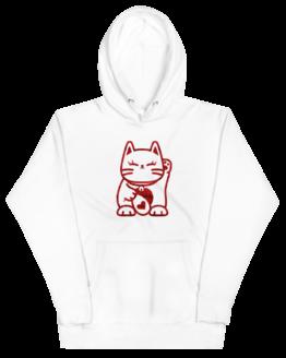 love cat hoodie wrinkled white