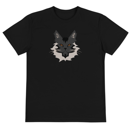 maine coon eco t-shirt front black