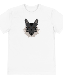 maine coon eco t-shirt front white
