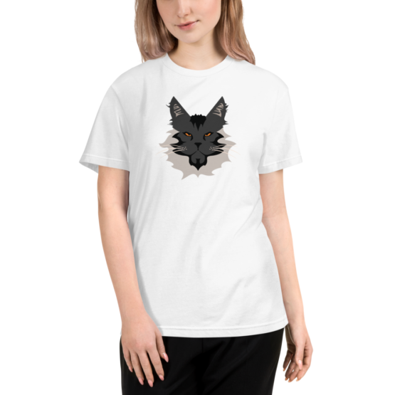 maine coon eco t-shirt woman white