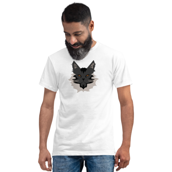 maine coon eco t-shirt man white