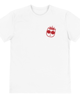 majestic cat eco t-shirt front white