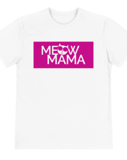 meow mama eco t-shirt front white