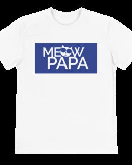 meow papa eco t-shirt front white