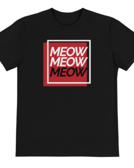 meow eco t-shirt front black