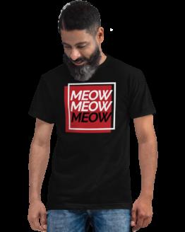 meow eco t-shirt man black