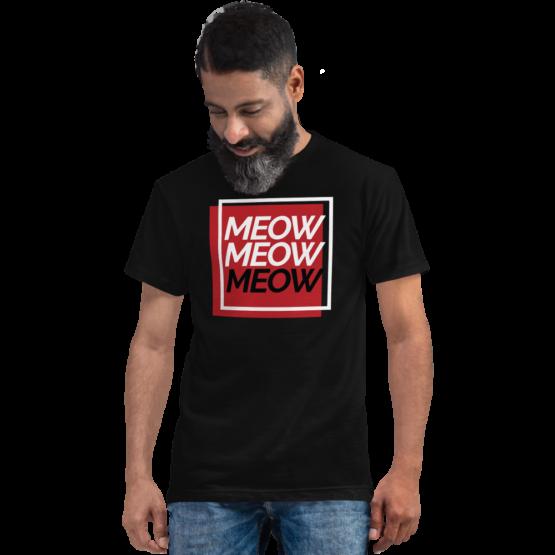 always be meowing eco t-shirt man black