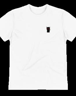 mini devil cat eco t-shirt wrinkled
