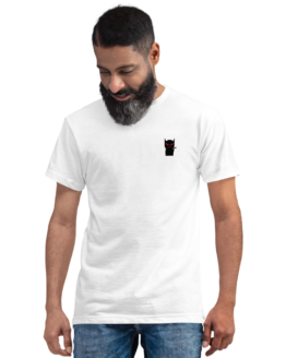 mini devil cat eco t-shirt man