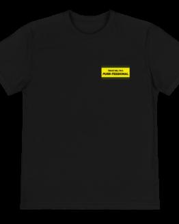 purrfessional cat eco t-shirt front black