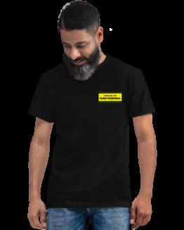 purrfessional cat eco t-shirt man black