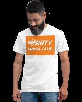 purrty animal club eco t-shirt man white