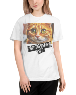 dreamy cat eco t-shirt woman white
