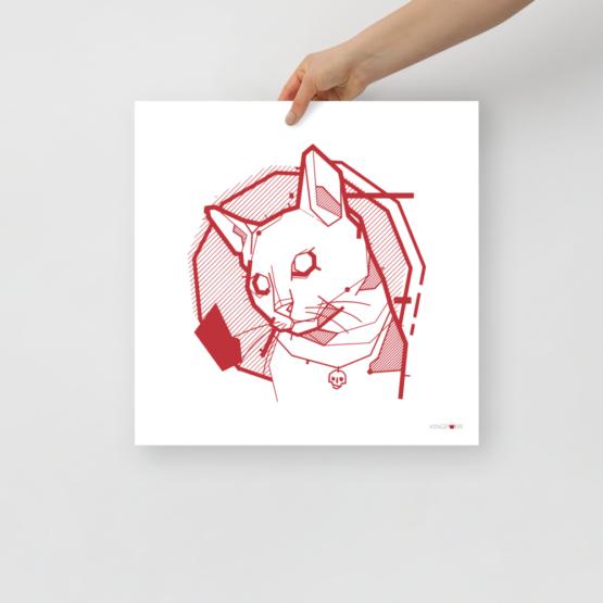 the feline poster held