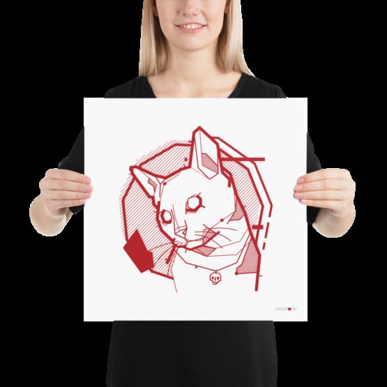 the feline poster woman