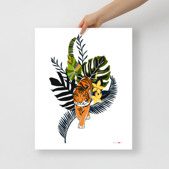 tiger in nature poster 16x20 hand