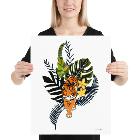 tiger in nature poster 16x20 woman