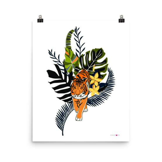 tiger in nature poster 16x20 wall