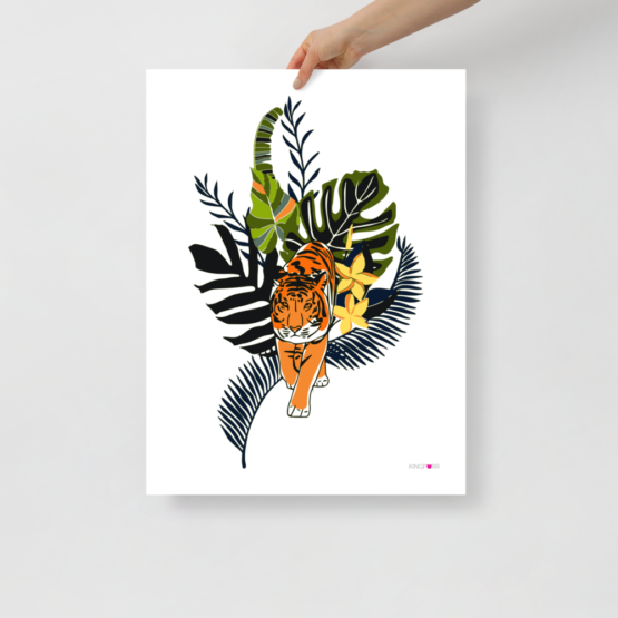 tiger in nature poster 18x24 hand